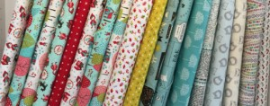 Moda, Dear Stella & Robert Kaufman fabric to make patchwork quilts and clothes