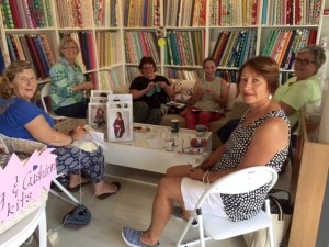 Weekly knitting activity at the Mulberry Tree at Milton, yarns and fabric