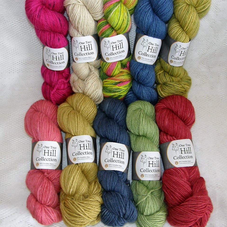 One Tree Hill Hand Dyed Alpaca Yarn at The Mulberry Tree at Milton